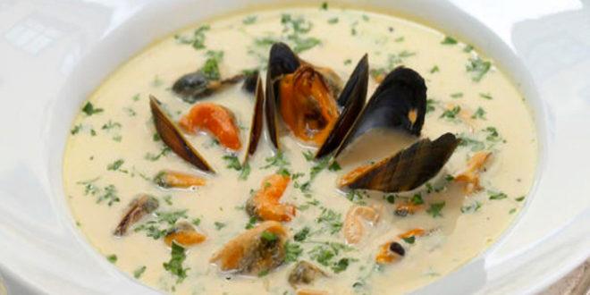 Шотландский рыбный суп с мидиями